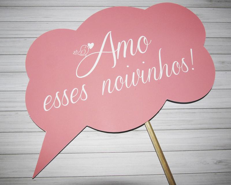 placa para casamento rosa