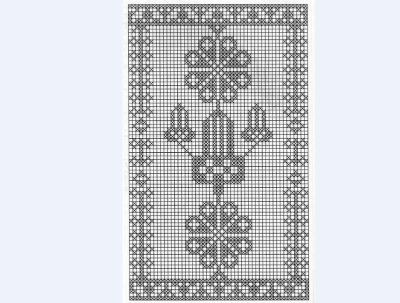 tapete de crochê com motivo de flor