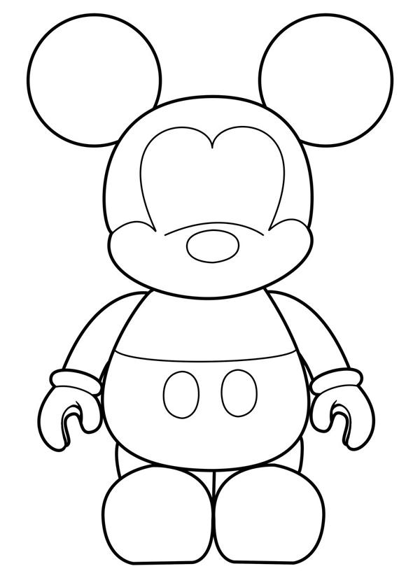 molde do Mickey Mouse criança