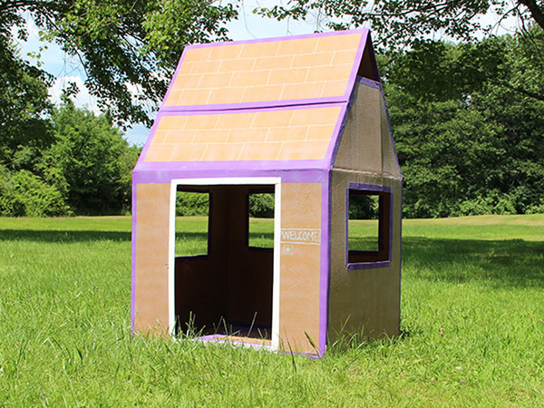 casa de papelão para jardim
