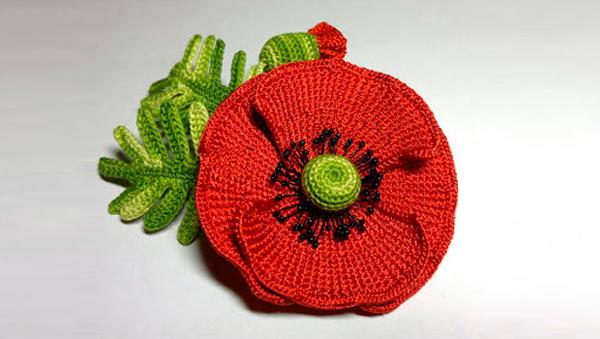 flor de croche diferente