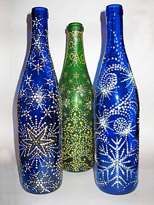 decoração de garrafa com glitter
