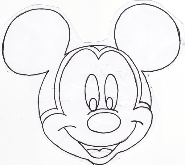 molde do rosto do Mickey Mouse