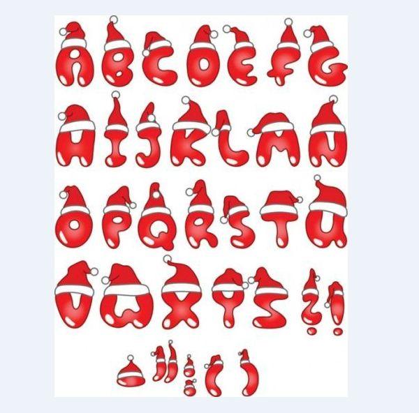 molde de letras natal