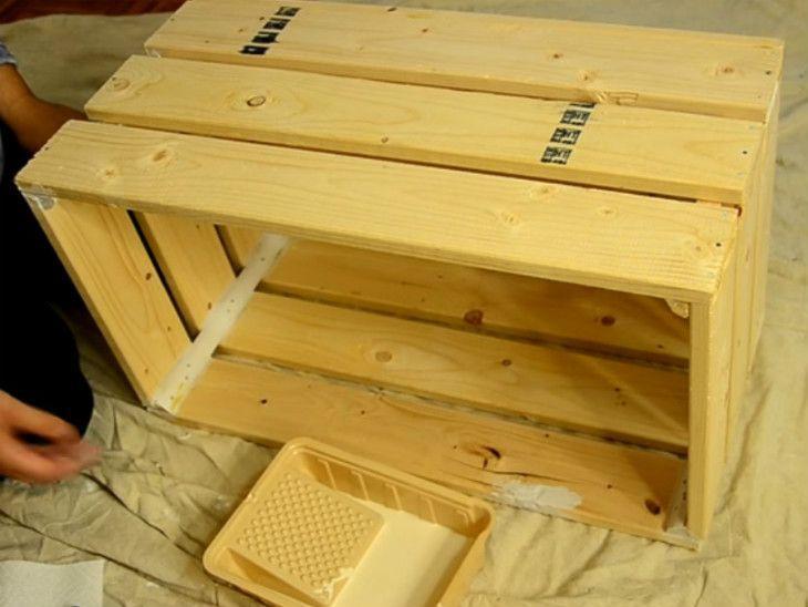 mesa de caixa de madeira passo a passo