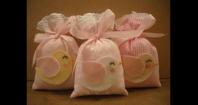 sache perfumado de sagu com tecido e feltro