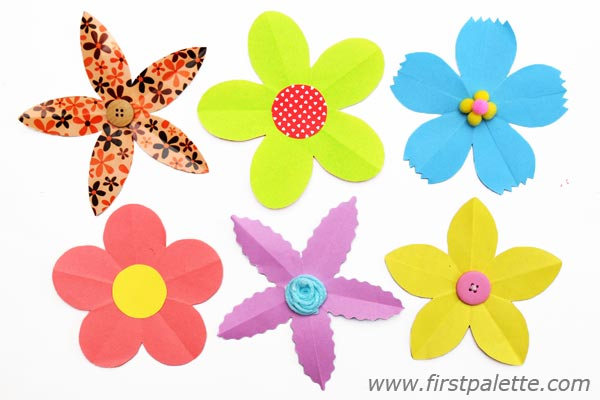 Molde de flor colorida