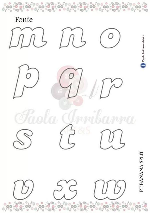 molde de letras para bordado