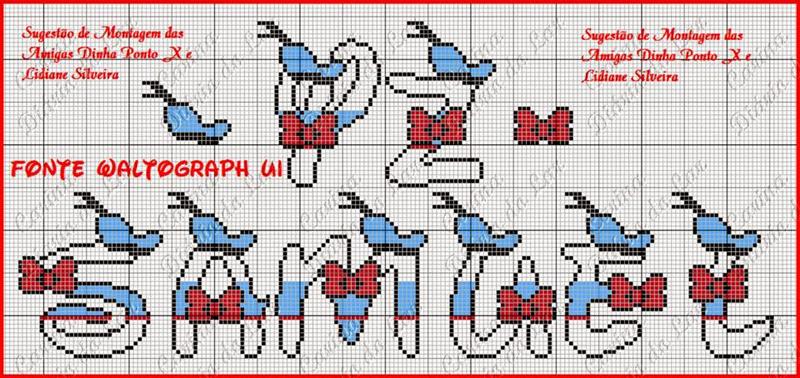 grafico de alfabeto em ponto cruz para criança