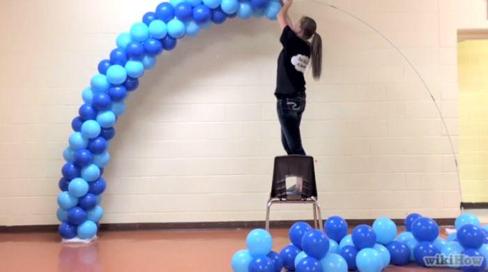 Como Fazer um Arco de Bexiga com Fotos Artesanato Passo a Passo! -> Decoração Com Balões Como Fazer Passo A Passo