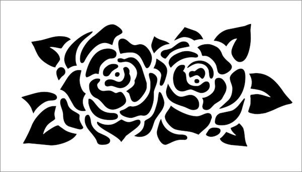 Molde de flor rosa