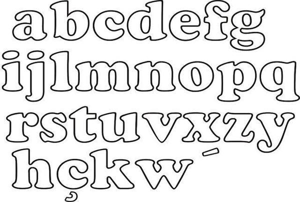 molde de letras tecido