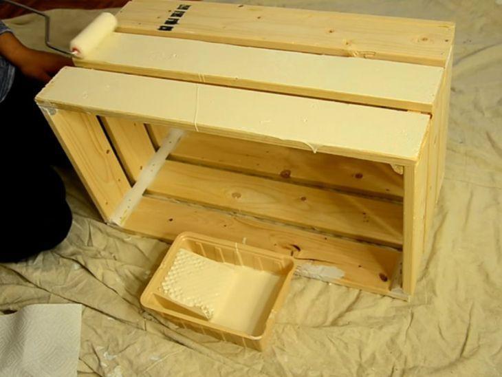 mesa de caixa de madeira tradicional