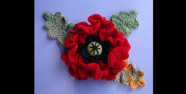 flor de croche com botão