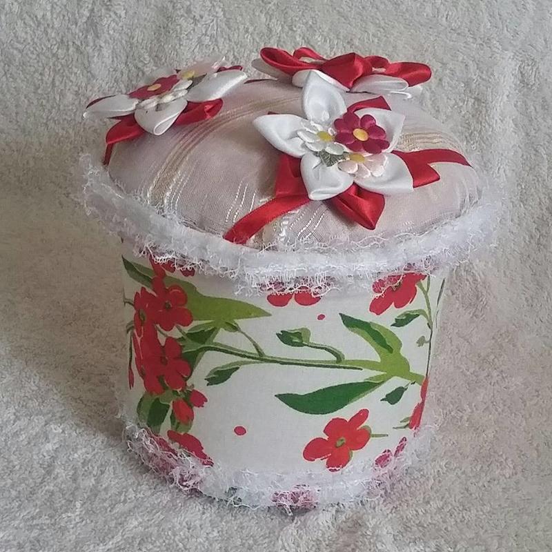 pote de sorvete decorado com rendinhas