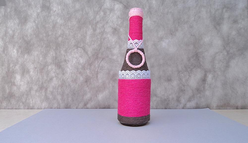 garrafa de vidro com argola