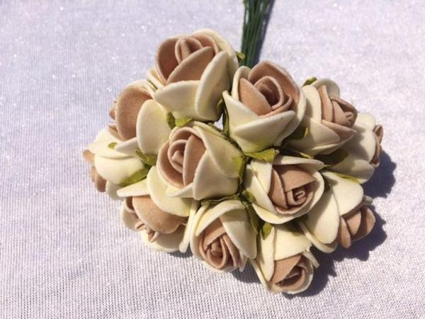 flor em eva com duas cores