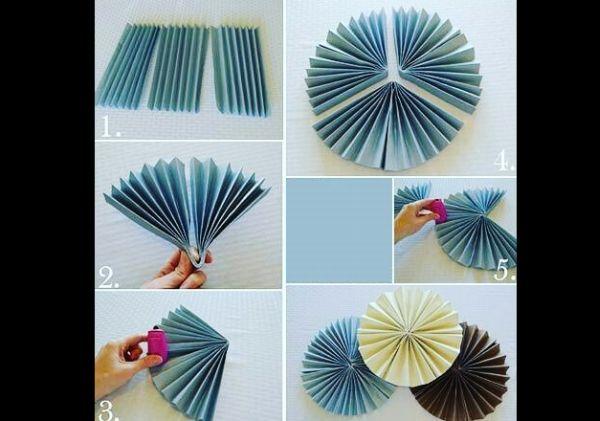 roseta de papel azul
