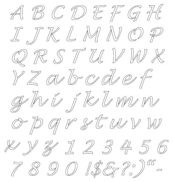 molde de letras e numeros