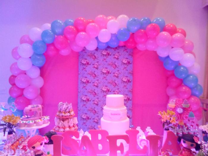 arco de balões festa de menina