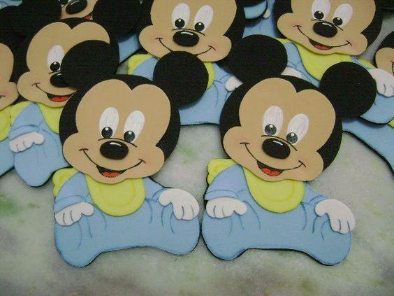 moldes de mickey mouse bebe para imprimir