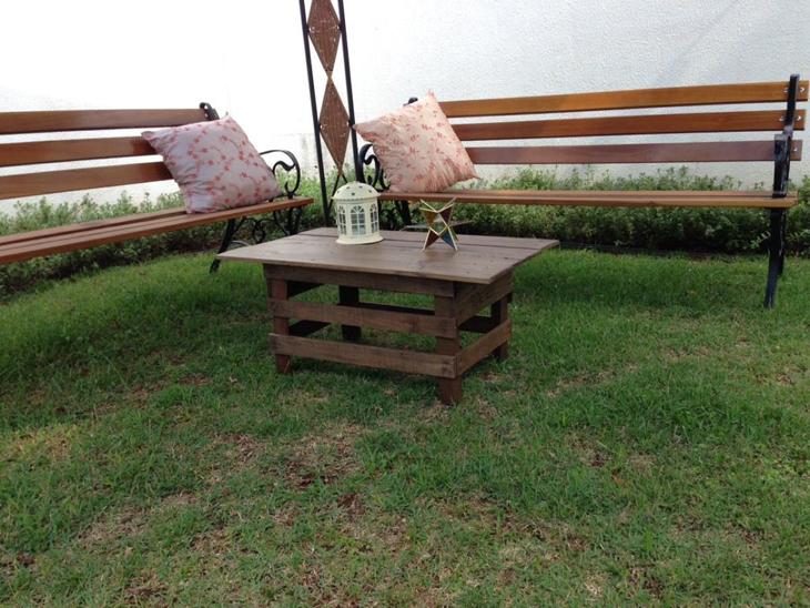 mesa de caixa de madeira rustica