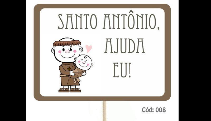 placa para casamento com Santo Antônio