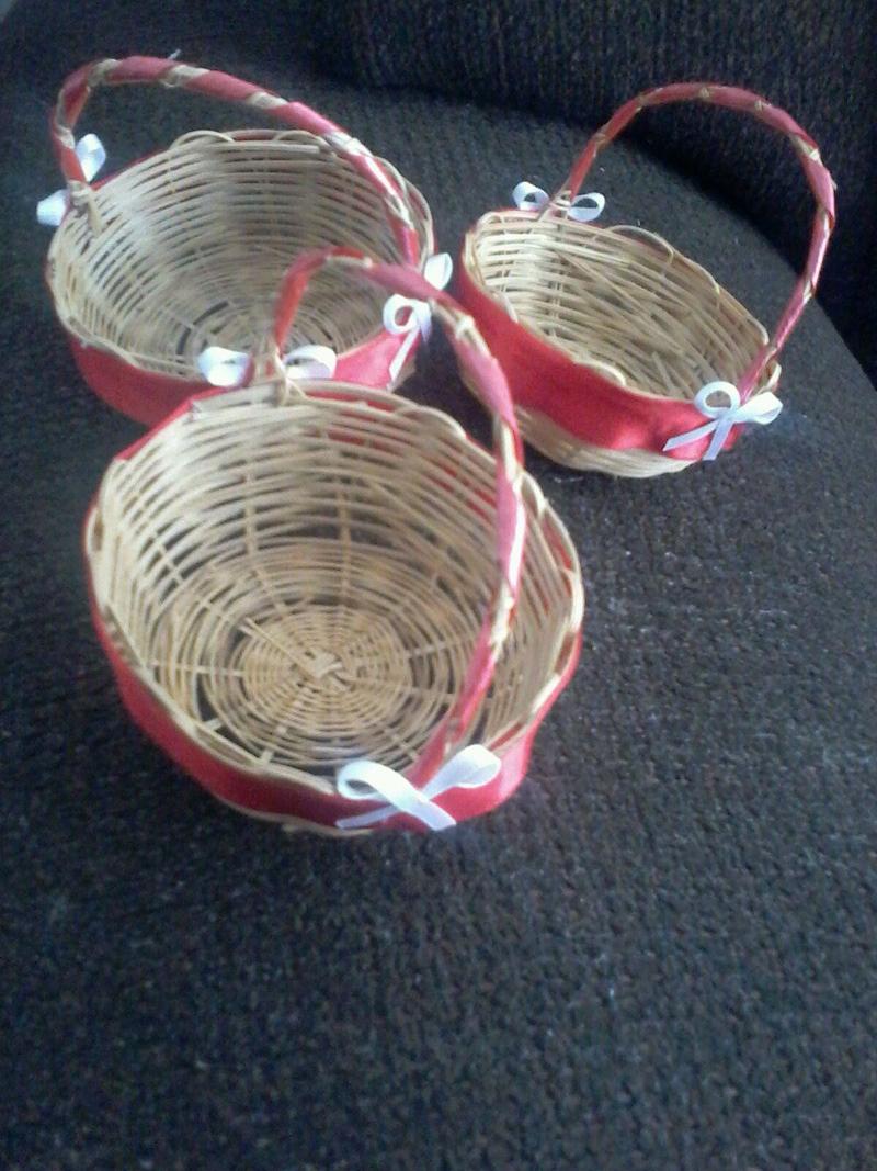cesta decorada com babados