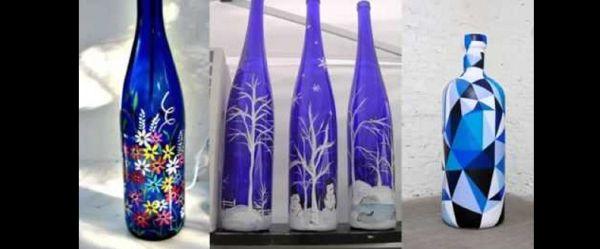 decoração de garrafa com desenhos