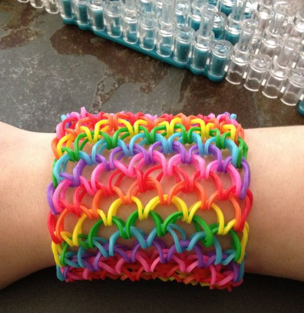 pulseiras de elastico com tear