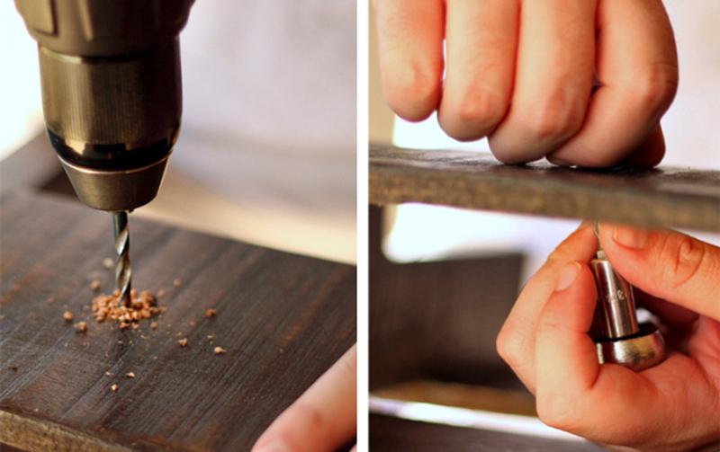 prateleira de madeira finalizada