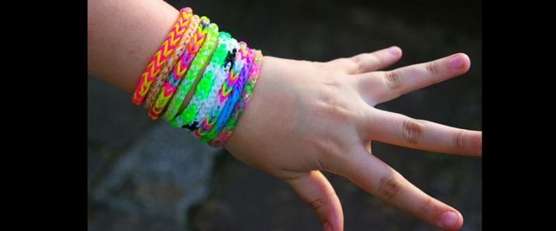 pulseira com elastico neon