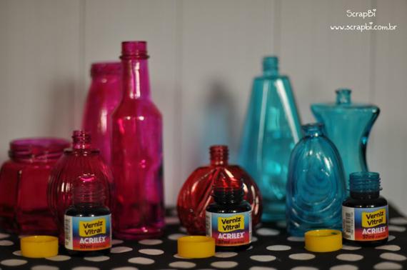 vidro com tinta vitral