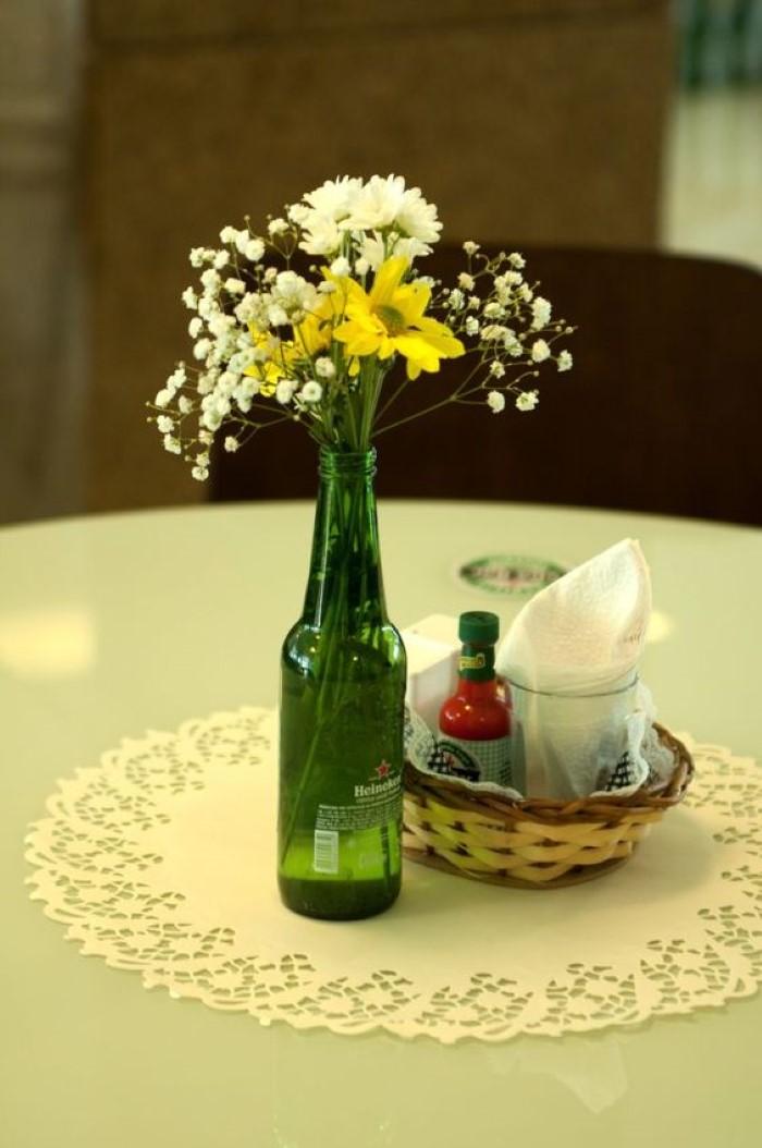 decoração com garrafa heineken