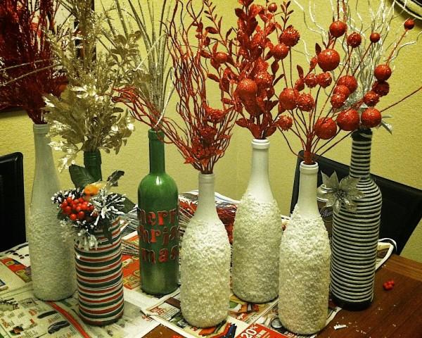 decoração de garrafa com textura