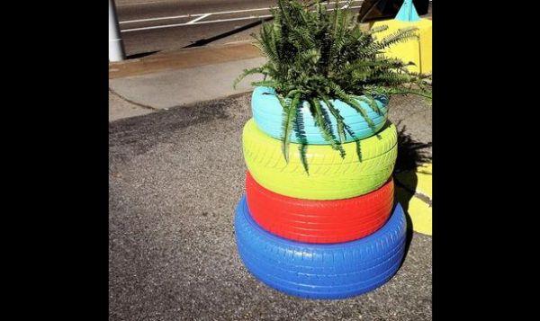 pneus coloridos