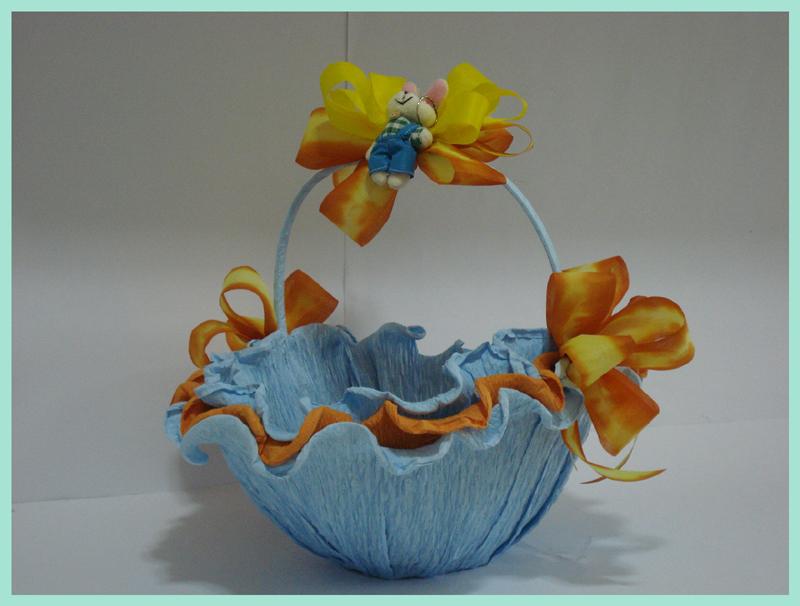 cesta decorada com papel