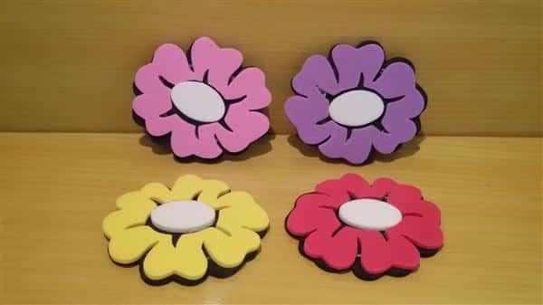flores de eva arranjos de mesa
