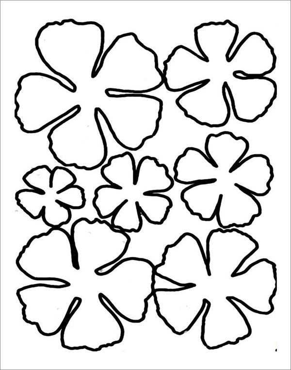 Molde de flores simples