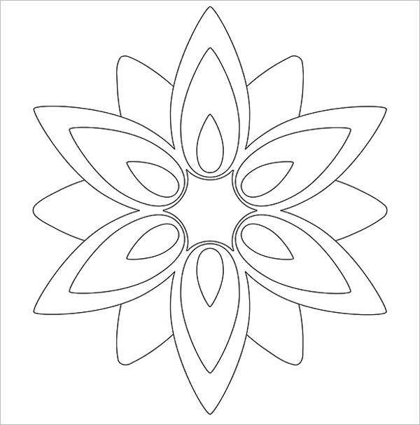 Molde de flores faceis