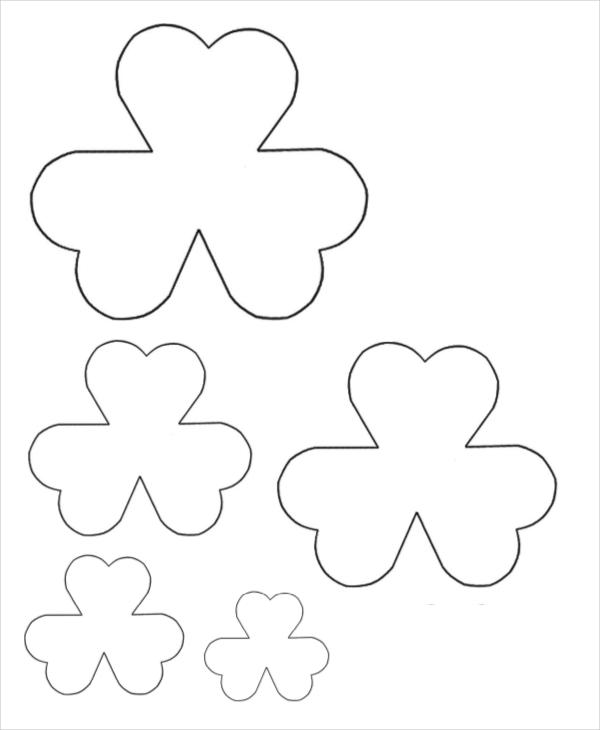 Moldes de flores triplas