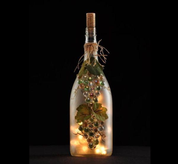 garrafa de vidro com pintura fosca