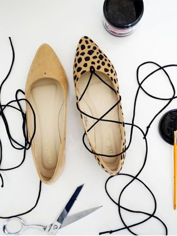 customizar sapato oncinha