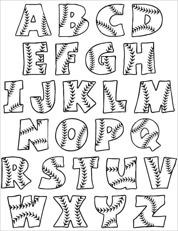 molde de letras com detalhe