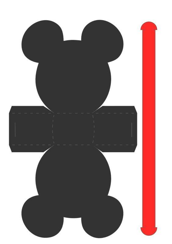 Molde Mickey Mouse Para Imprimir Artesanato Passo A Passo