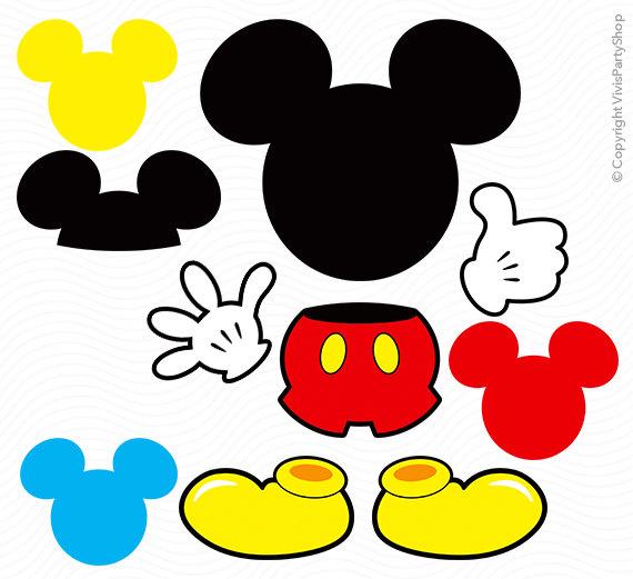 molde luva mickey mouse