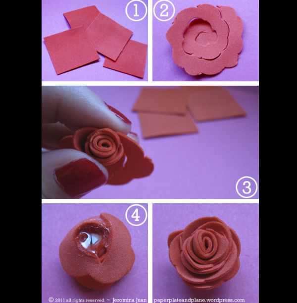 flor em eva rosa