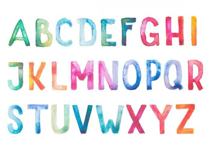 molde de letras grandes para mural
