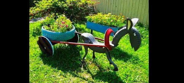 carroça de pneu