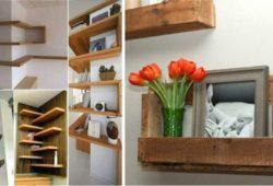 modelos de prateleiras de madeira